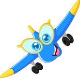 Happy plane cartoon Stock Images