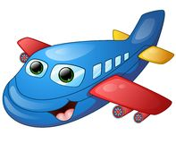 Happy plane cartoon Stock Photography