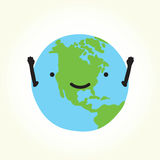 Happy planet Earth Royalty Free Stock Photography