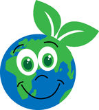 Happy planet environ milieu Stock Images