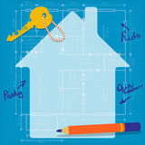 Happy Planning of a Future Family Home Stock Photo