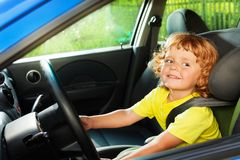 Happy play to be a driver Royalty Free Stock Photography