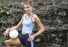 happy player volleyball Στοκ Εικόνες