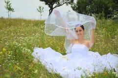 Happy playful bride Stock Photos