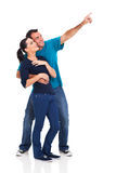 Playful couple pointing Stock Photography