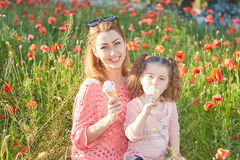 Happy Playful family, mother and daughter. Royalty Free Stock Photo