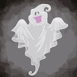 Happy Playful Ghost, Vector Illustration Stock Photo