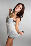 Happy Playful Woman Royalty Free Stock Photo