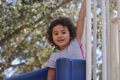 Happy at the playground Royalty Free Stock Photos