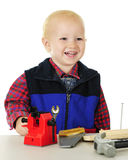 Happy Playing Tool Man Stock Photography