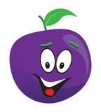 Happy plum face Stock Photo