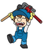 Happy Plumber Stock Photo