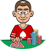Happy Poker Player Stock Photo