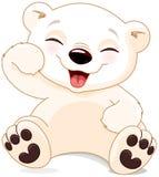 Happy Polar Bear Stock Photo