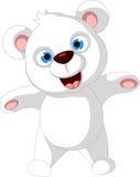 Happy polar bear cartoon Stock Photo