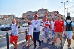Happy Polish Fans Euro 2016 Stock Photo