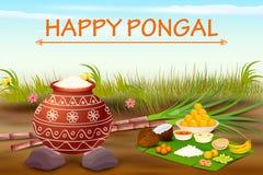 Happy Pongal celebration background Royalty Free Stock Photo