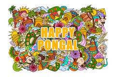 Happy Pongal celebration background Stock Photography