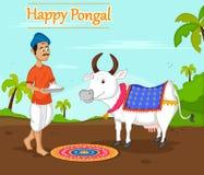 Happy Pongal celebration stock illustration