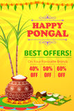 Happy Pongal celebration shopping offer Royalty Free Stock Photography