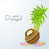 Happy Pongal festival celebration concept. Stock Photography