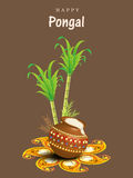 Happy Pongal festival celebration concept. Stock Photo