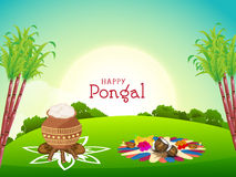 Happy Pongal festival celebration concept. Stock Images