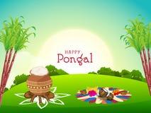 Happy Pongal festival celebration concept. Stock Images