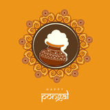 Happy Pongal festival celebration concept. Royalty Free Stock Photos