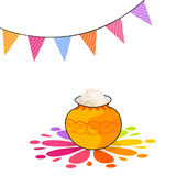 Happy Pongal festival celebrations with traditional pot. Stock Images