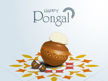 Happy Pongal festival of South India celebration concept. Stock Images