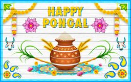 Happy Pongal greeting background Royalty Free Stock Photography