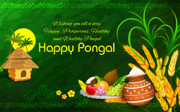 Happy Pongal greeting background Royalty Free Stock Images