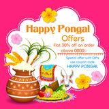Happy Pongal greeting background Stock Image