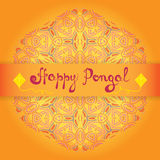 Happy Pongal greeting card. Indian harvesting festival Makar Sankranti. Royalty Free Stock Photography
