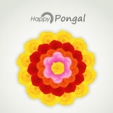 Happy Pongal, harvest festival celebrations with colorful flower Royalty Free Stock Photography