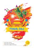 Happy Pongal Sale Background Template Design Stock Photos