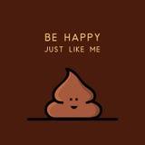 Happy poop - cartoon illustration Stock Images