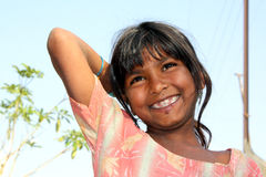 Happy Poor Girl stock photos