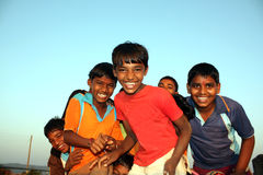 Happy Poor Kids. Poor kids from India in a happy mood Stock Photos