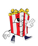 Happy Pop corn cartoon Royalty Free Stock Photos