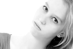 Happy portrait in black and white Royalty Free Stock Image