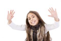 Happy portrait child. Happy child portrait in white background Stock Photo