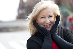 Happy portrait of an elderly blonde woman Royalty Free Stock Photo