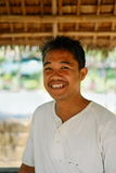 Happy portrait of middle-aged man farmer in Asian provincial area Royalty Free Stock Images