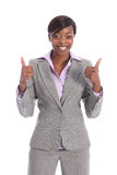 Happy and positive beautiful black business woman Royalty Free Stock Images