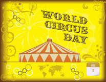 Happy poster by World Circus Day stock illustration