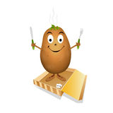 Happy potato. In pack vector illustration Stock Images