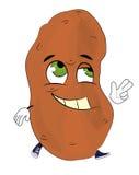Happy potato cartoon Stock Photography