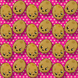 Happy potato pattern Stock Image